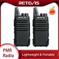 RETEVIS RT622 RT22 Mini PMR Walkie Talkie 2 uds PMR446 Radio PMR 446 FRS VOX manos libres Woki Toki par de dos vías de Radio Comunicador
