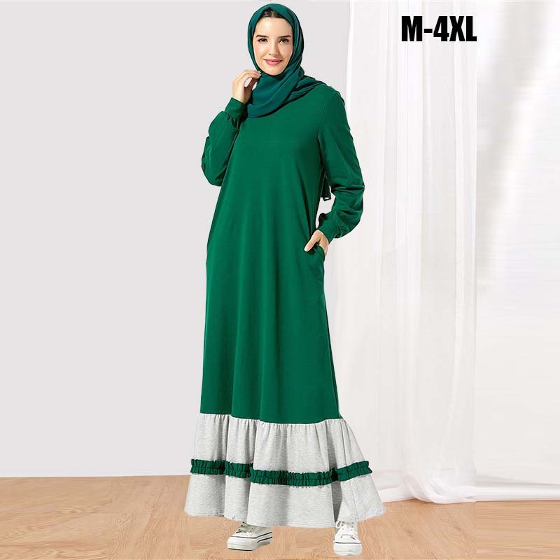 BNSQ Eid Dubai Open Abaya Muslim Party Dresses Women Kaftan Cotton Striped Turkish Islamic Arab Costume Casual Wear