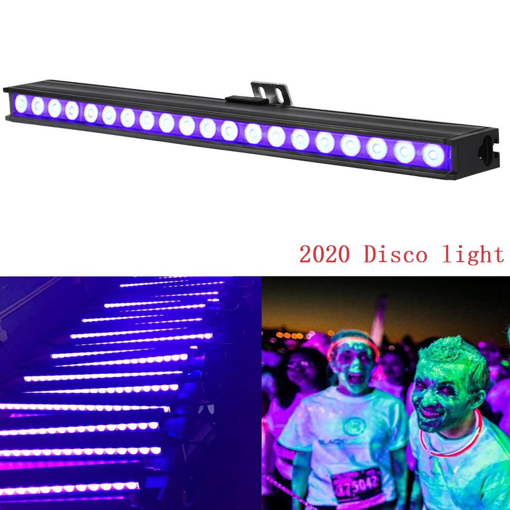 15W 20 LED Disco UV Violet Black Lights DJ Par Lamp UV For Party Xmas Bar Lamp Laser Stage Wall Washer Spot Light Backlight free