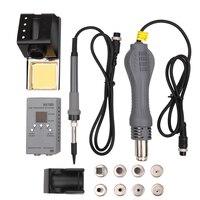 New 2 in 1 Portable MCU Rework Soldering Station Constant Electric Soldering Iron Temperature Digital Hot Air Machine Kit