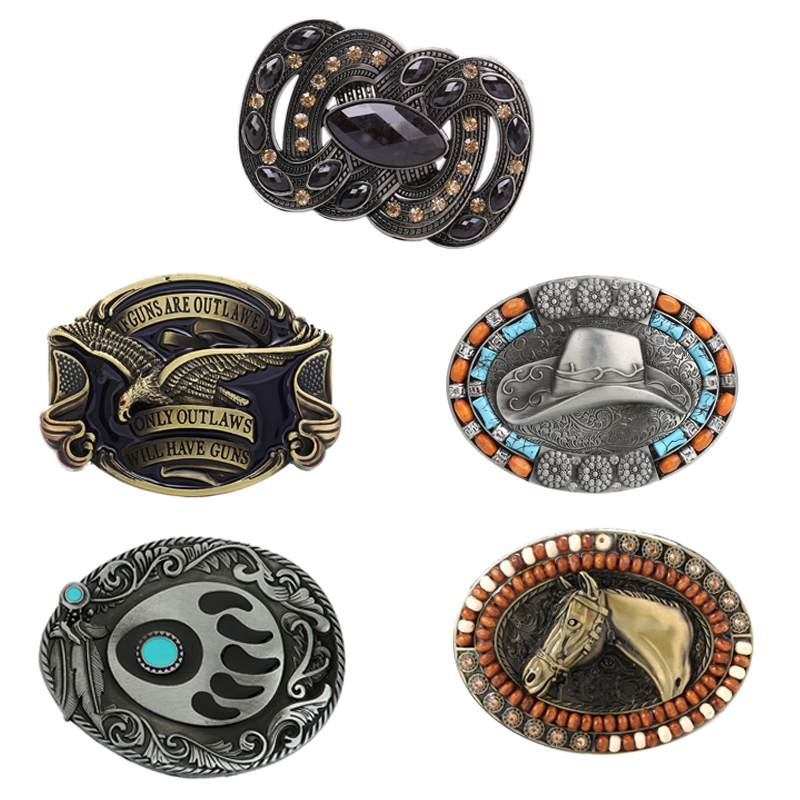 Running Horse Belt Buckle - Roaring Eagle - Western Cowboy Rodeo Belt Buckles For Men And Women Gift For Man Boy Friend Father