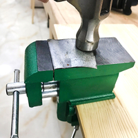 Cast Iron Bench Vise Multifunctional Jewelers Vice Clamp On Bench Vise With Large Anvil Hobby Clamp On Table Mini Hand Tool HOt