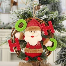 Get more info on the Christmas Santa Claus/Snowman/Reindeer Pendant Party Decorative Rattan Cartoon Doll Hanging Wreath Ornaments Door DecorationsCM