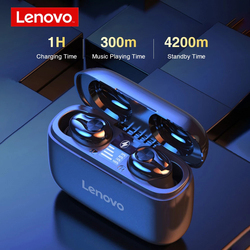 Lenovo HT18 Wireless Headset TWS Bluetooth 5.0 Earphones HiFi Stereo Touch Control Headphones LED Display Noise Reduction Earbud