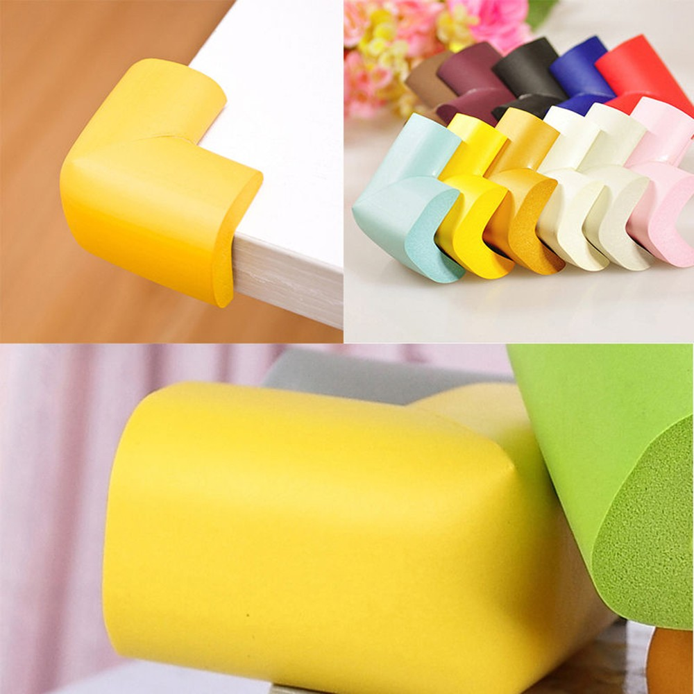 4pcs/lot Soft Table Desk Corner Protector Baby Safety Edge Corner Guards For Children Infant Protect Tape Cushion