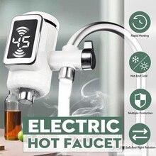 Elektryczny, gorący do kranów i bojlerów kuchnia zimny kran grzewczy bezzbiornikowy cyfrowy przepływowy podgrzewacz wody z kranu z adapterem