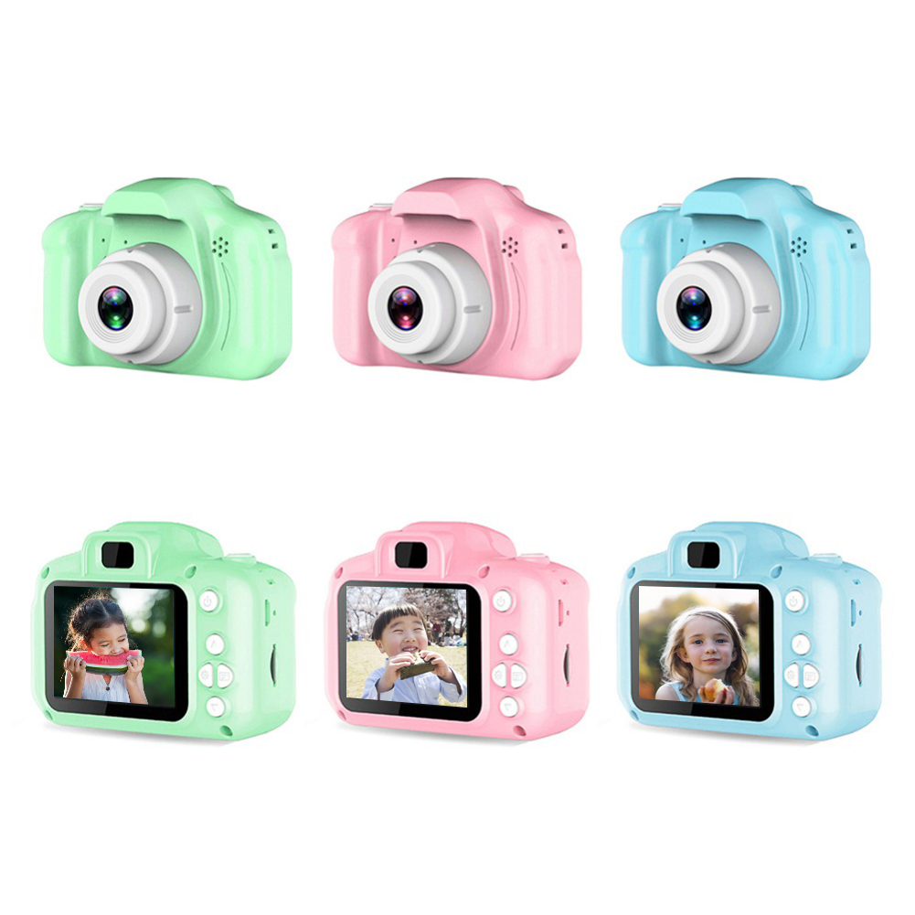 Mini Digital Camera 1080P HD Video Camera Toy 2.0 Inch Display Screen 8 Million Pixel Kids Cartoon Cute Camera Birthday Gifts