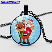 2019 new accessories Christmas snowflake half moon necklace fashion pendant custom