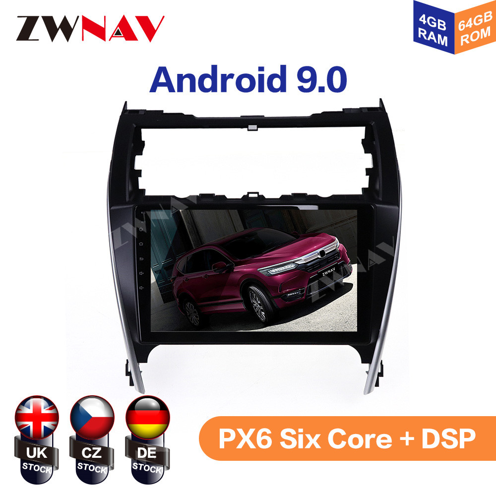 Android 9 4+64G For Toyota Camry 2012 2013 2014 2015 - 2017 IPS HD Screen Radio Car Multimedia Player GPS Navigation Audio Video image