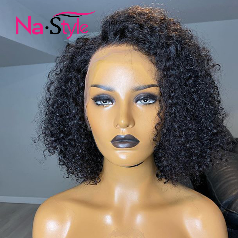 Pixie Cut Wig Curly Short Bob Wigs 250 Density Lace Wig Preplucked 13x6 Lace Front Wigs Bob Wig Lace Front Human Hair Wigs