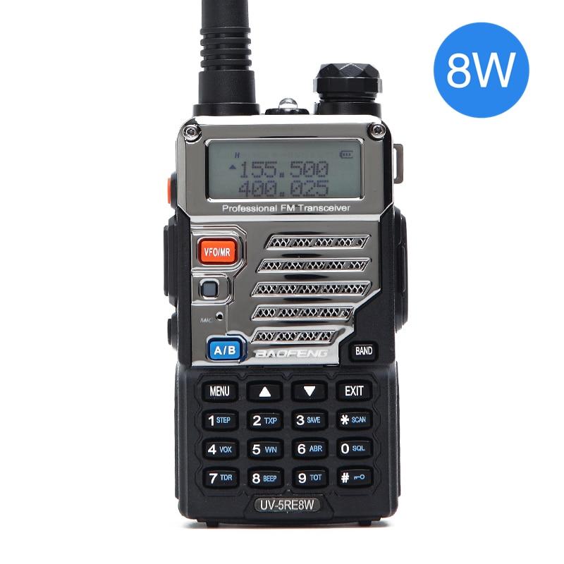 BAOFENG UV 5RE Tri power 8W/4W/1W 10km long range HIGH POWER  Handheld walkie talkie cb HAM Two way Radio upgrade of UV 5REpowerful  walkie talkiesbaofeng uv-5r 8wuv-5r 8w