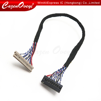 1pcs/lot 400MM DF14-20P-D8 1ch 8bit 20pin LVDS CABLE wire to dupont for LCD board In Stock image