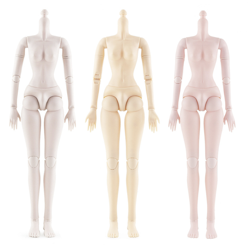 1/3 BJD Dolls White/ Pink Skin Female Nude Doll Body 60cm Movable Joints Doll With Shoes Dolls Parts For Diy Toys For Girls