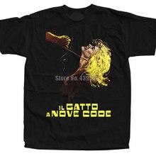 Kot o 'dziewięć ogonów Il Gatto A Nove kod człowiek graficzne koszulki narciarstwo koszulki męskie mody koszulki jak koszule Ifmyuw