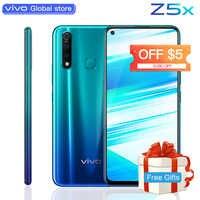 """Téléphone portable d'origine vivo Z5x 6.53 """"écran 8G 128G Snapdragon710 16MP caméra 5000mAh batterie 18W Charge téléphone portable"""