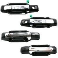 4 pces maçaneta da porta exterior para kia sorento 2003-2009 826503e021 826603e021 836503e01 frente esquerda/direita prata
