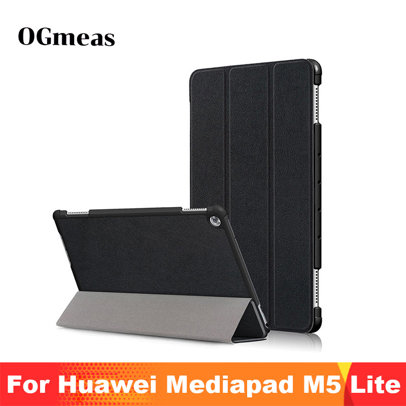 For Huawei MediaPad M5 Lite Case 10 BAH2-W19/L09/W09 Ultra Slim Pu Leather Smart Stand Cover For Media Pad M5 Lite 10.1