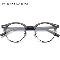 HEPIDEM Acetate Optical Eyeglass Frames Men Retro Vintage Round Glasses Nerd Women Prescription Spectacles Myopia Eyewear 9123