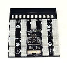 Pci-e 12v 64pin para 17x 6pin placa de fuga do adaptador do servidor da fonte de alimentação para hp 1200w 750w psu servidor gpu btc mineração #3