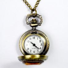 цена на 2019 New Vintage Engraved Arabic Number Quartz Pocket Watch with Chain Birthday Gift pocket watch/Ladies Watch/fullmetal alchemi