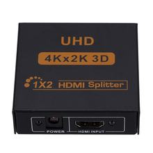 3D 4K*2K Full HD 1080p 1X4 HDMI Splitter Adapter 4 Ports Hub Repeater Amplify Converter for HDTV Xbox PS3 PS4 Multimedia(China)