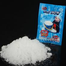 1 Pack Artificial Snow Instant Snow Powder Fluffy Snowflake Super Absorbant Frozen Party Magic Prop Christmas Party Decor E(China)