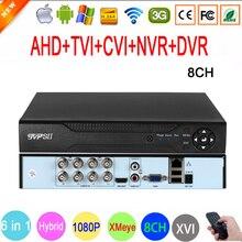 Caméra de vidéosurveillance 1080P,960P,720P,960H, 1080N, 8 canaux, hybride 8CH, 6 en 1, WIFI XVI NVR TVI CVI AHD DVR, vidéosurveillance