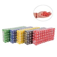 100pcs Poker Chips dice 14mm Six Sided Spot Fun Board game Dice D&D RPG Games Party Dice Gambling Game Dices(China)