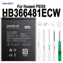 Oryginalny NOHON telefon bateria do huawei P9 G9 G9 Lite Honor 8 5c 2900 mAh-3000 mAh o dużej pojemności akumulator litowo baterie polimerowe HB366481ECW tanie tanio 2801 mAh-3500 mAh Kompatybilny ROHS CN (pochodzenie) 0 Phone Battery For Huawei P9 G9 G9 Lite Honor 8 Honor 5c HB366481ECW