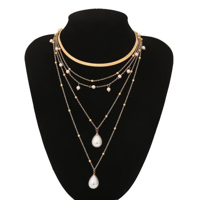 Bohemian Multi Layer Imitation Pearl Necklace 6