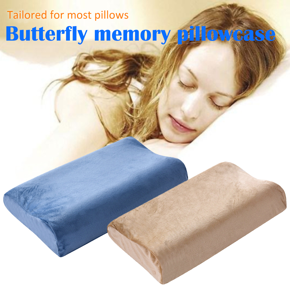 Soft Pillow Cases Slowly Rebound Memory Foam Space Pillow Cases Neck Cervical Healthcare  Memory Pillow Case Two Size Choose
