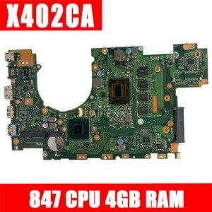 X402CA Motherboard REV2.1 847cpu 4g For ASUS X502CA X402CA Laptop motherboard X402CA Mainboard X402CA Motherboard(China)