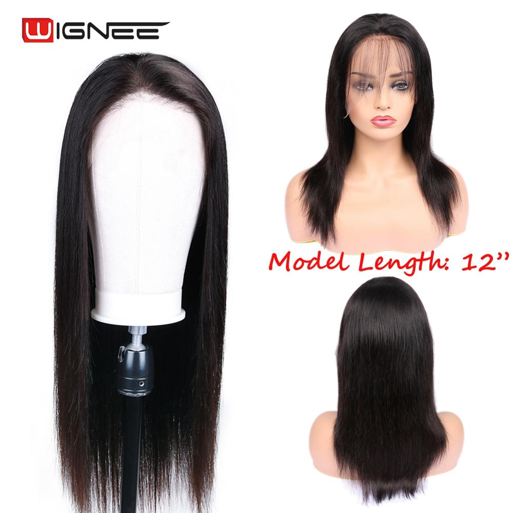 Wignee Lace Front Straight Hair Human Wigs With Baby Hair For Black Women Virgin Hair Pre Plucked Hairline Lace Human Hair Wigs