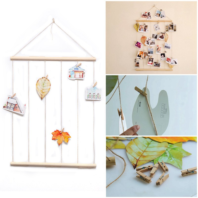 Fashion-Simple Creative Rope Rope Photo Wall Postcard Polaroid Hanging Room Dormitory Small Fresh Decoration