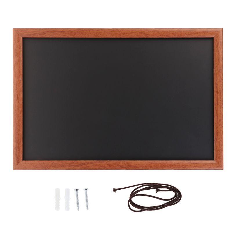 Rectangle Hanging Wooden Message Blackboard Chalkboard Wordpad Advertising Board D08B