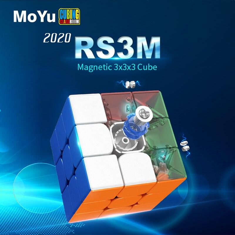 Moyu RS3M 2020 manyetik 3x3x3 sihirli küp MF3RS3M cubing sınıf RS3 M mıknatıslar bulmaca hız küp oyuncaklar çocuklar için