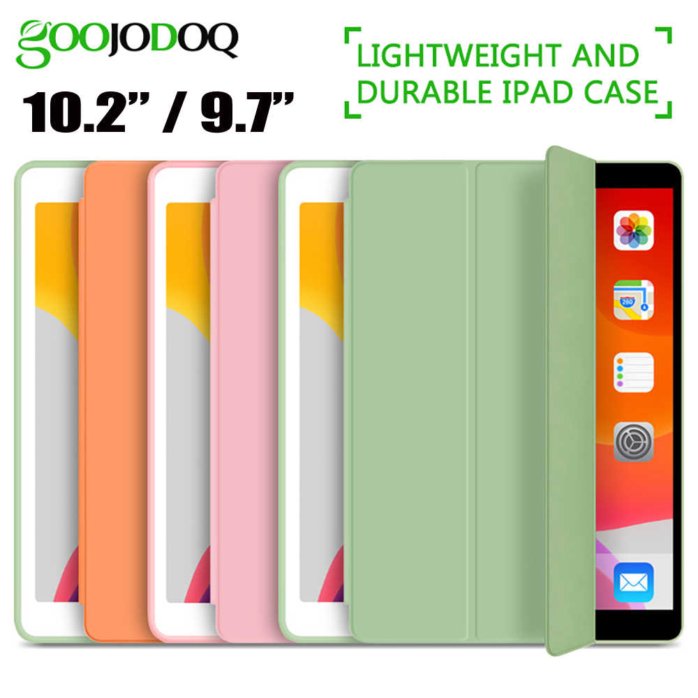 GOOJODOQ für iPad 2018 Fall 9,7 Air 2 Air Fall iPad 6th Generation Fall Funda Schlank TPU Silikon Abdeckung für iPad 10,2 2019 7th Gen