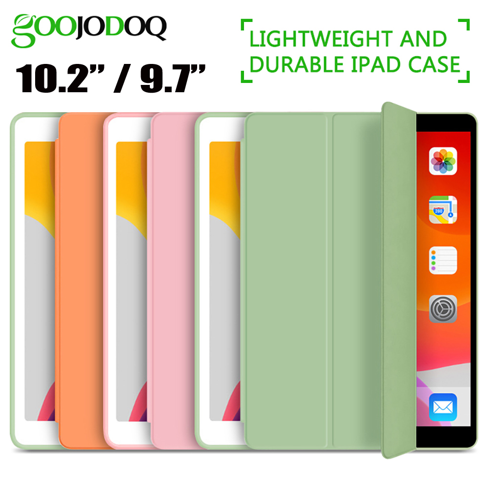 GOOJODOQ For IPad 2018 Case 9.7 Air 2 Air Case IPad 6th Generation Case Funda Slim TPU Silicone Cover For IPad 10.2 2019 7th Gen