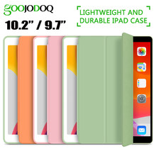 Goojodoq untuk iPad 2018 Case 9.7 Udara 2 Air Case Ipad 6th Generasi Case Funda Slim TPU Silikon Cover untuk ipad 10.2 2019 7th Gen(China)
