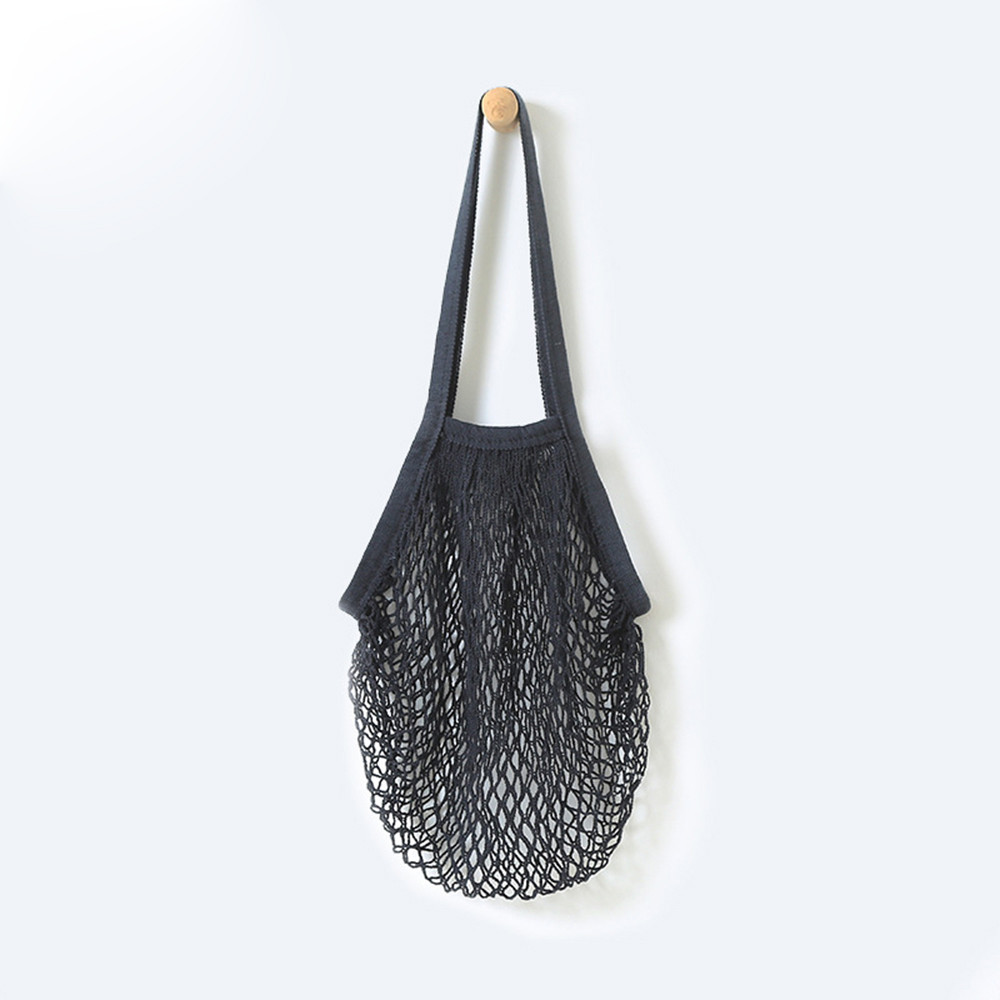 2019 Women Shopping Mesh Bags Reusable Fruit String Grocery Shopper Cotton Tote Mesh Woven Net Convenient Storage Shoulder Bag