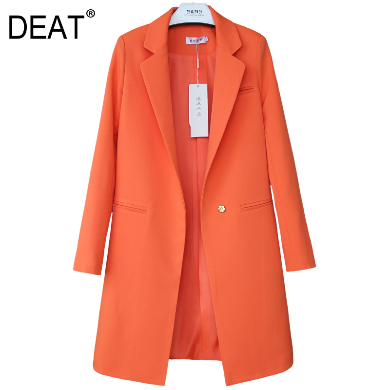 DEAT 2020 Autumn New Pattern Small Suit Woman Korean Long Sleeve Thin All-match Loose Coat Female Balazer S-XXL All Sizes