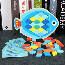 Educational Toy Gift Cartoon Fish Owl Wooden Toys for Children Multifunction Early Learning Puzzles
