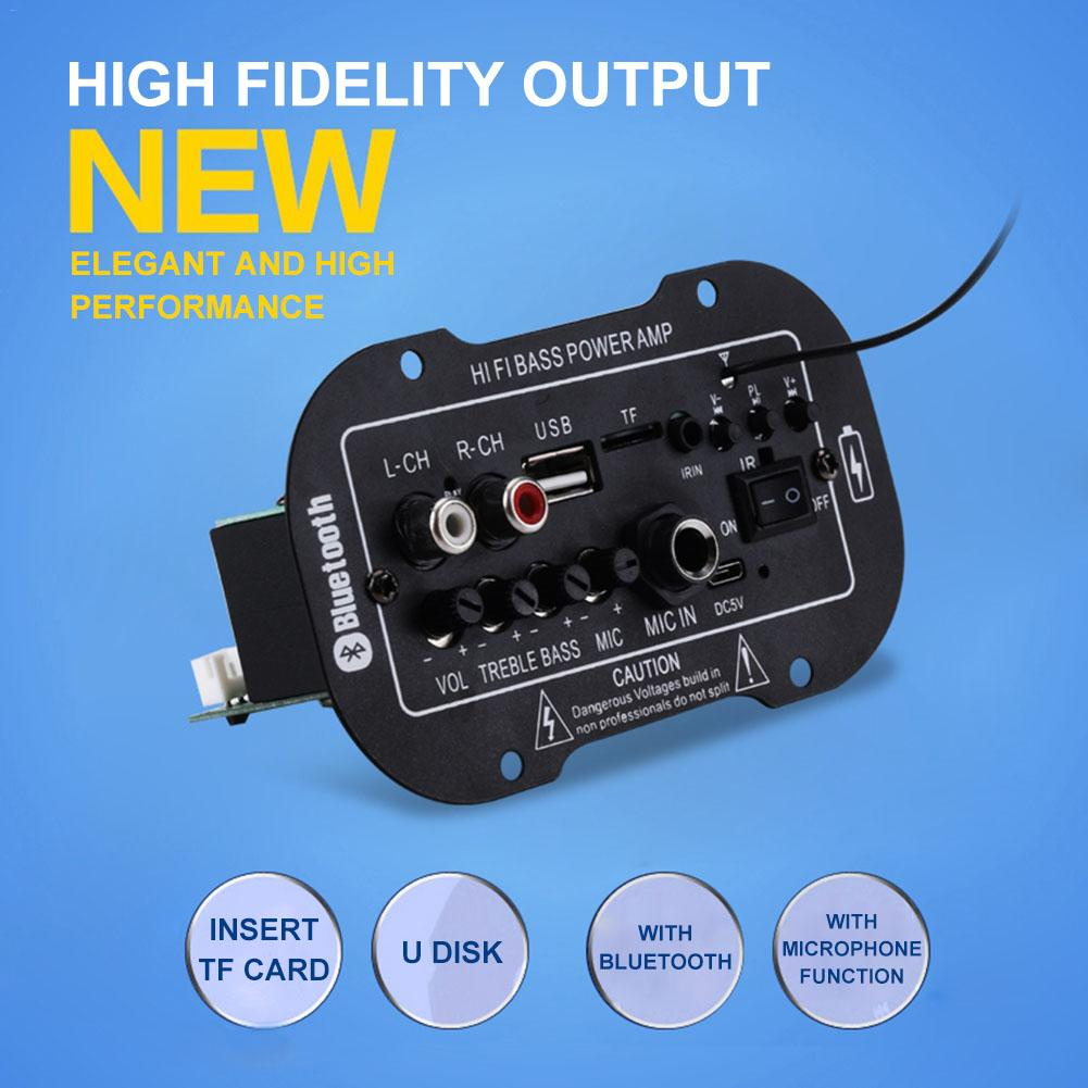 Car Digital Power Amplifier Board Rechargeable <font><b>5</b></font> Inch <font><b>USB</b></font>/TF U Disk Built-in MP3 Player 15W <font><b>DC</b></font> 5V YS-08 BT Amplifier With MIC RC image