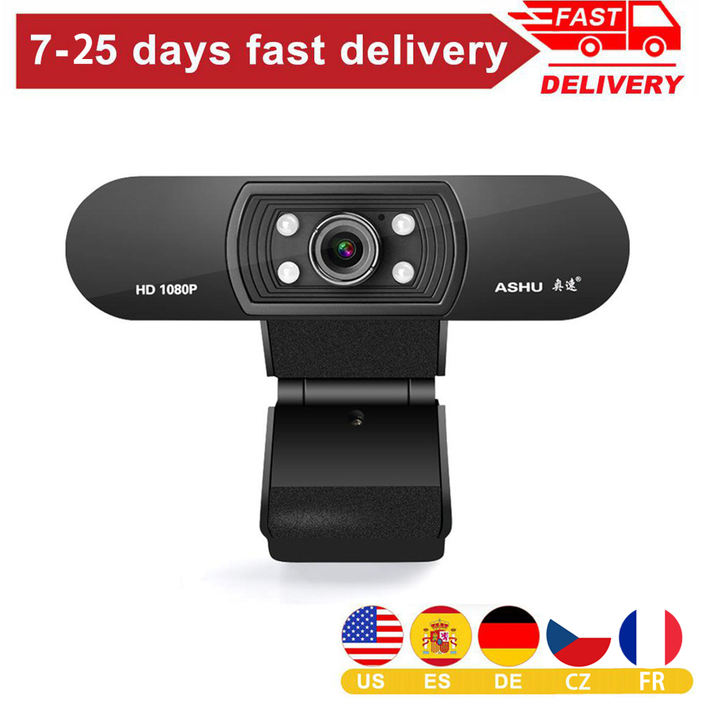 In Stocks Webcam Usb Full Hd 1080p 1920x1080 Web Camera For Computer Smart Android Tv Gaming Pc Win10 Laptop Dropshipping