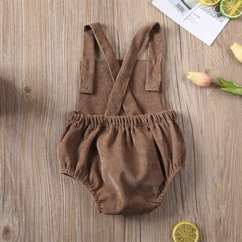 Corduroy Pink Backless Bodysuit khaki