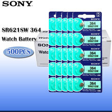 """500 sztuk Sony 364 100% oryginalny 1.55V tlenku srebra bateria zegarka 364 SR621SW V364 SR60 SR621 AG1, proszę kliknąć na przycisk """" ogniwo monety wykonane w japonii"""