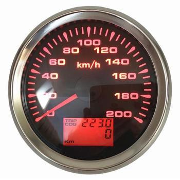 1pc 0-毎時 200 キロオート Gps スピードメーター計器と 85 ミリメートル液晶スピード走行距離ゲージ旅行メートル COG 8 種類バックライト色