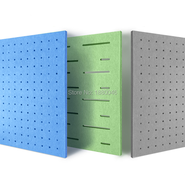 1box 10pcs sound absorber Eco-friendly Perforated Polyester Material acoustic panels acoustic treatment wall panels
