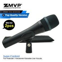 2 pçs/lote grau a qualidade e945 desempenho profissional dinâmico com fio microfone super cardióide 945 mic para vocais ao vivo karaoke