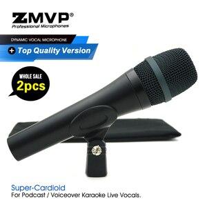 Image 1 - 2 pçs/lote grau a qualidade e945 desempenho profissional dinâmico com fio microfone super cardióide 945 mic para vocais ao vivo karaoke